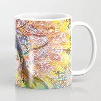 shiva Mugs featuring Sunflower Shiva by BradButler