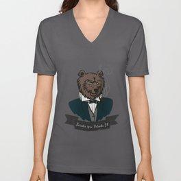 Clever Bear Unisex V-Neck