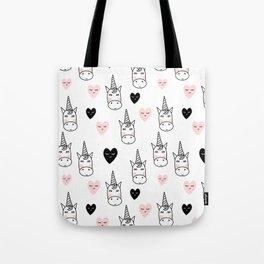Unicorn hearts Tote Bag