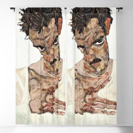 13,000px,500dpi-Egon Schiele - Self-Portrait with Lowered Head - Digital Remastered Edition Blackout Curtain