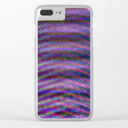 Violet Rays IV Clear iPhone Case
