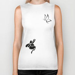 Butterfly Come Back Biker Tank
