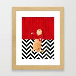 Twin Peaks cat  Framed Art Print