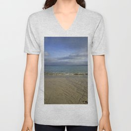 Patterns in the Sand with Blue Skies Above Unisex V-Neck