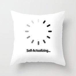 Self-Actualizing Throw Pillow