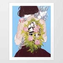 Strawberry Milk Art Print