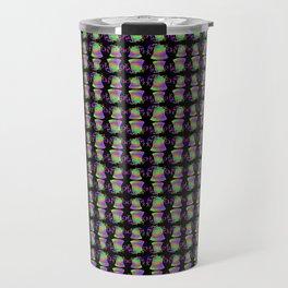 Rainbow Bell in Black Travel Mug