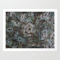 malachite Art Prints featuring Malachite by RubenBer