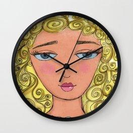 Curly girly Wall Clock