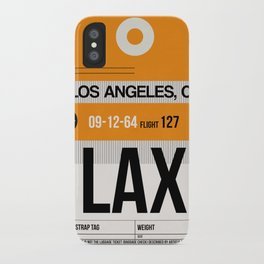 LAX Los Angeles Luggage Tag 2 iPhone Case