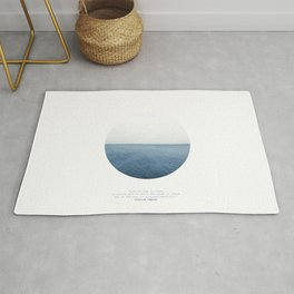 Life is like an ocean. It can be calm or still and rough or rigid. Rug