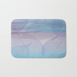 Painterly Pastel Leaves Abstract Bath Mat