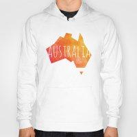 australia Hoodies featuring Australia by Stephanie Wittenburg