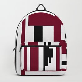 LINE PRINT WITH BLACK AND BURGUNDY Backpack