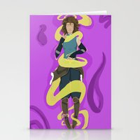 legend of korra Stationery Cards featuring Korra by Ivrai