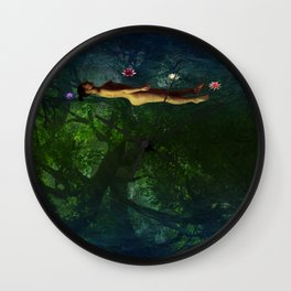 Ophelia by Gauntt Wall Clock