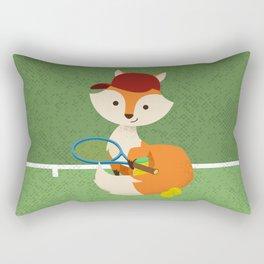 Tennis fox Rectangular Pillow