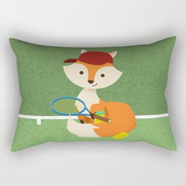Tennis fox Rectangular Pillow