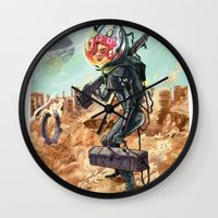 prometheus Wall Clocks featuring Prometheus by Logan  Faerber