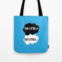 tfios Tote Bags featuring Destiel - TFIOS by downeymore
