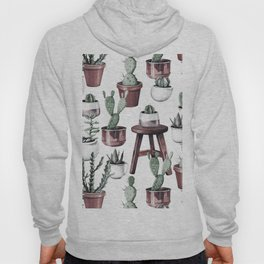 Happy Potted Cacti in Rose Gold Pots Hoody