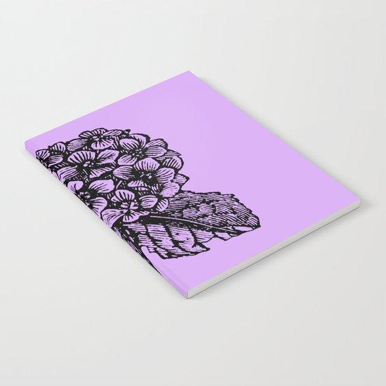 Lavender Hydrangea Notebook