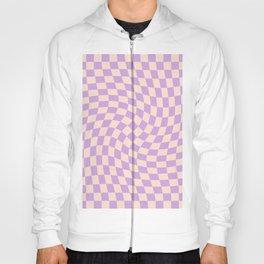 Check V - Lilac Twist — Checkerboard Print Hoody