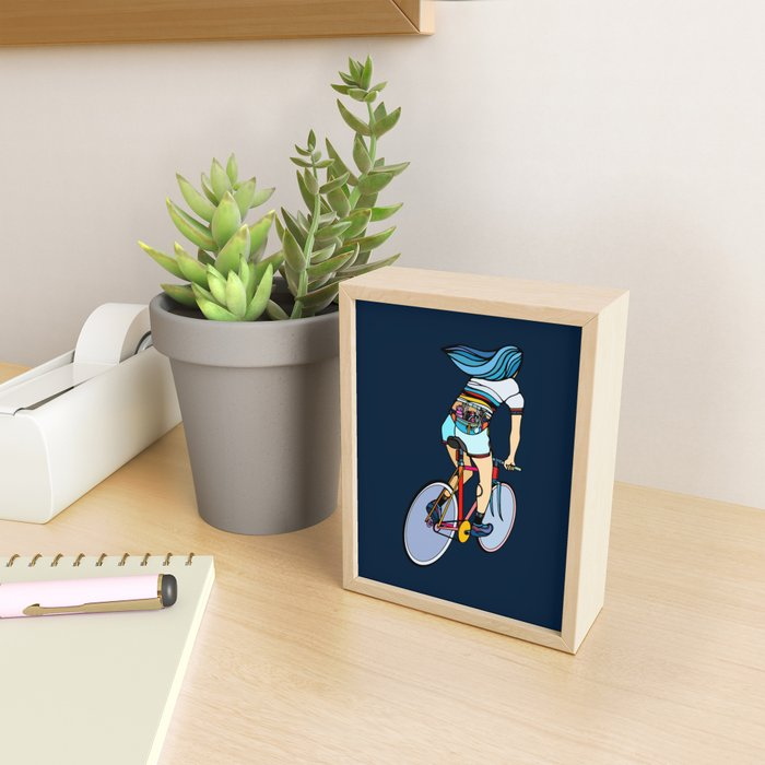 Fixie Girl Framed Mini Art Print