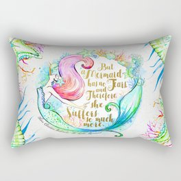 But A Mermaid Has No Tears Rectangular Pillow