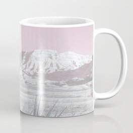 Mojave Snow // Red Rock Canyon Las Vegas Desert Landscape Light Pink Sky Vintage Photography Coffee Mug