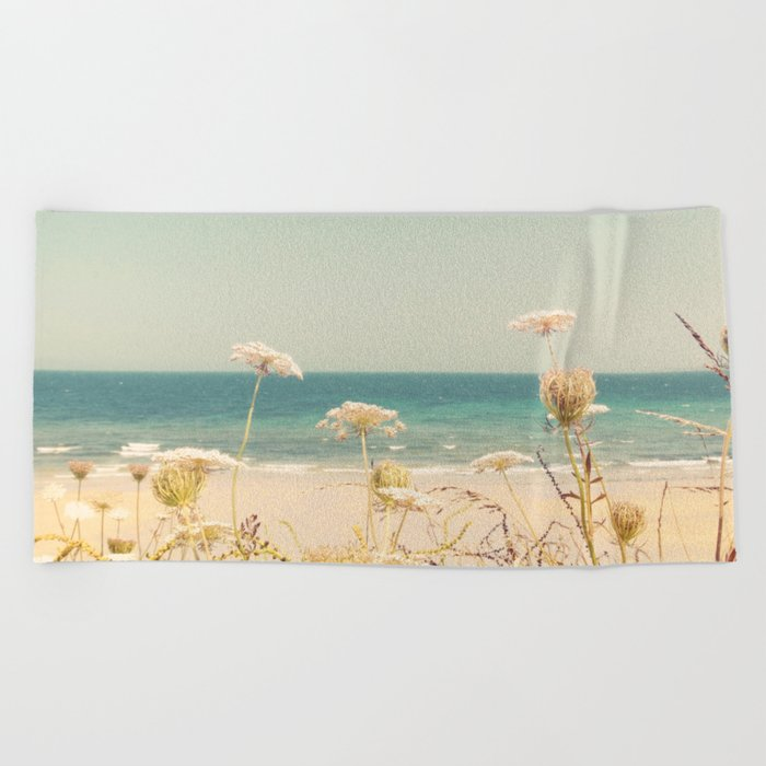 Water and Lace Beach Towel