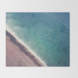 Beach Aerial II Throw Blanket