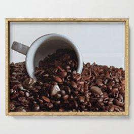 coffee addiction Serving Tray