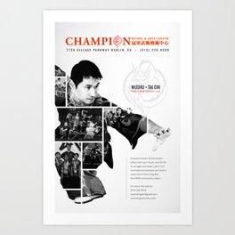 champion wushu Art Print