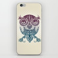egyptian iPhone & iPod Skins featuring Baby Egyptian Owl by Rachel Caldwell