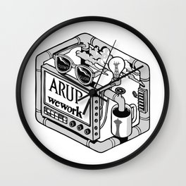 Arup WeWork West Project Patch Wall Clock