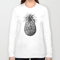 ornate Long Sleeve T-shirts featuring Ornate Pineapple by BIOWORKZ