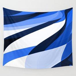 blu slant 1 Wall Tapestry