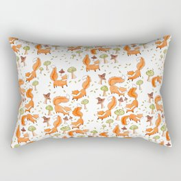 Little Foxes Rectangular Pillow