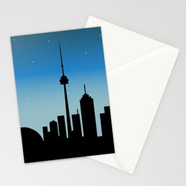 Toronto Skyline - Night Stationery Cards