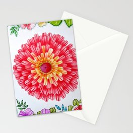 Bright Red Flower Called Sweet William Stationery Cards