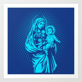 mary mother of god  Art Print