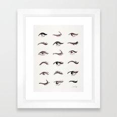 Mascara Envy – Black Palette Framed Art Print