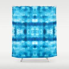 Bohemian Shibori Tie dye Shower Curtain