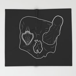 Death Head Sex Head Throw Blanket