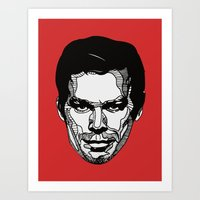 dexter Art Prints featuring Dexter by Dylan Morang