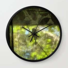 View through the Sheers Wall Clock