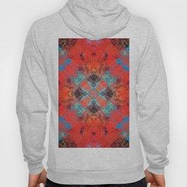 Southwestern Decor Turquoise and Orange Pattern Design Hoody
