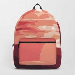 Burning sunset, splendid mountain landscape in pink shades Backpack