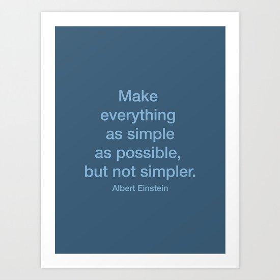 Simpler Art Print